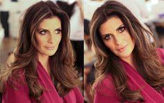 A modelo e apresentadora, Isabella Fiorentino que tem um dos cabelos mais lindos e bem cuidados, esteve aqui para renovarmos o corte. Fizemos um look natur