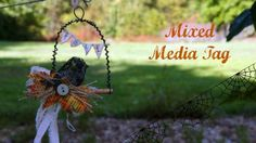 Media Mixage Monday by Artist Linda Peterson for @Spellbinders: Fall Inspired Mixed Media Tag