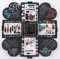 Explosion Box Memory Scrapbook Photo Album DIY Craft Kits Anniversary Gifts New - Diy Gift Ideas Pot Mason Diy, Mason Jar Crafts, Bottle Crafts, Boite Explosive, Album Photo Scrapbooking, Diy Scrapbook, Handmade Scrapbook, Love Box, Exploding Boxes
