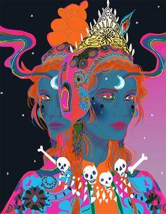 Jessica Singh - - -trippy Indian goddess