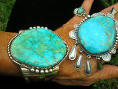 Gigantic Navajo Cuff and Pendant