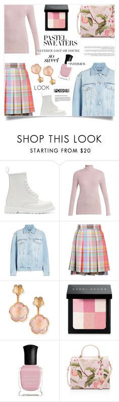 """""""thoughts about u."""" by sugaplump ❤ liked on Polyvore featuring Dr. Martens, Prada, Alexander McQueen, Thom Browne, Pasquale Bruni, Bobbi Brown Cosmetics, Deborah Lippmann, Ted Baker and pastelsweaters"""
