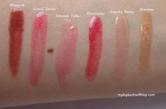 bareMinerals Hot to Trot Lipgloss Swatches