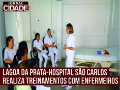 Nos dias 03 e 04 de fevereiro, nas dependências da Instituição, a gestora de Enfermagem, Simoni Inácio, reuniu com a equipe de enfermagem para um treinamento sobre Parada Cardiorrespiratória. Leia mais:http://www.jornalcidademg.com.br/lagoa-da-prata-equipe-de-enfermagem-hospital-sao-carlos-inicia-2014-com-treinamentos/