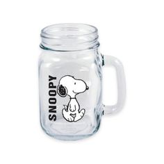 The only limit is your imagination when drinking with ICUP's Peanuts Walking Snoopy Handled Mason Jar. Fronted with a fun image of a walking Snoopy, this vintage-style glass perfectly stores your coldest drinks, giving animated flare to any gathering.