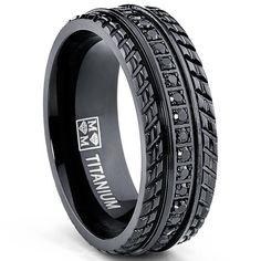 Men's Black Titanium Pave Set Wedding Band, Engagement Eternity ring, Chevron design, Black Cubic Zirconia CZ Ring, Comfort Fit 8mm Size 7 Bonndorf http://www.amazon.com/dp/B00I55NAQS/ref=cm_sw_r_pi_dp_U2N1tb1JG56GH0C6