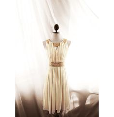Great Gatsby Elven Lord of the Rings Victorian Medieval Edwardian Flowy Egyptian Cleopatra Soft Cream Chiffon Dress Marie Antoinette Gown on Etsy, $98.50