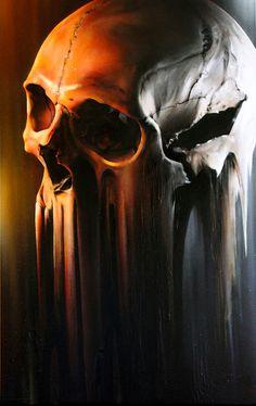 Creative Skull, Painting, Designersgotoheaven, Canvas, and Smugone image ideas & inspiration on Designspiration Dark Fantasy Art, Dark Art, Skull Reference, Street Art, Totenkopf Tattoos, Bild Tattoos, 13 Tattoos, Airbrush Art, Skull Design