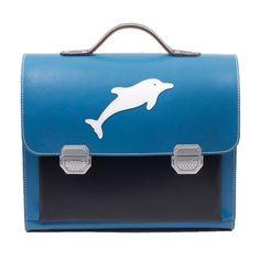 Anfänger-Schulranzen Delfin aus Leder