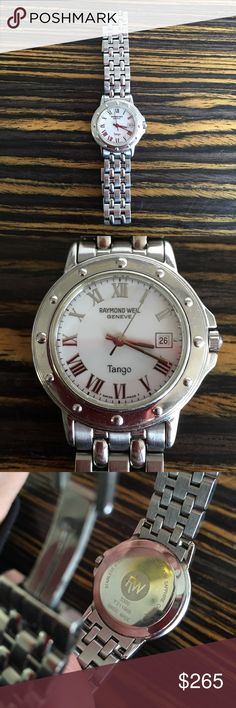 """Raymond Weil authentic """"Tango"""" watch Beautiful everyday watch with a 25 mm face.     Stainless steel Brand new battery  Swiss made Sapphire crystal face  Water resistant Raymond Weil Accessories Watches"""