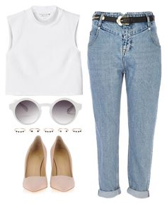 """Sans titre #618"" by maevaxstyle ❤ liked on Polyvore featuring Monki, River Island, Giuseppe Zanotti and Isabel Marant"