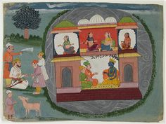 Krishna with a king in a lakeside pavilion | Flickr - Photo Sharing!