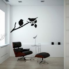 Graceful Birds Wall Decal Model  KC278  All nature lovers will agree that the Graceful Birds Wall Decal is a wonderful way to give any room a spring time effect. The creative wall sticker is available in different colours so that you find the perfect match for your walls.  SMALL   :- 24 X 14 - IN INCHES MEDIUM :- 42 X 24 - IN INCHES LARGE   :- 48 X 28 - IN INCHES