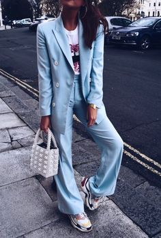 Girly Outfits, Pretty Outfits, Cool Outfits, Casual Outfits, Black Girl Fashion, Work Fashion, Blazer Fashion, Fashion Outfits, Womens Fashion