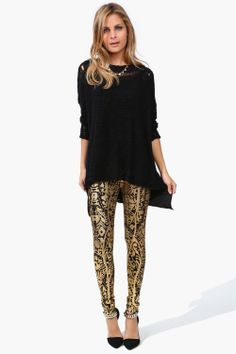 Solid Gold Legging / Necessary Clothing