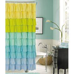 Flamenco Pastel Ombre Ruffled Shower Curtain (guest bath)?