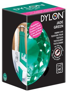 Bring a sense of calm and class to your home and wardrobe with DYLON's Limited Edition Jade Green machine dye.  http://www.dylon.co.uk/