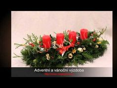 ▶ Adventní a vánoční výzdoba MOJE KYTICE - YouTube Floral Wreath, Christmas Tree, Wreaths, Holiday Decor, Flowers, Cakes, Home Decor, Youtube, Teal Christmas Tree