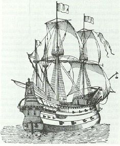 This is the type of ship pirate William Parker (1560-1617) would have commanded when he conducted his raids around the Mexico area. He sailed in consort with Sir Frances Drake & later went on to plunder St Vincent in the Cape Verdis. He held for ransom the Cubagua pearl boats & captured a Portuguese slave ship. He became a hero of sorts & was a founding member of the Virginia Company.
