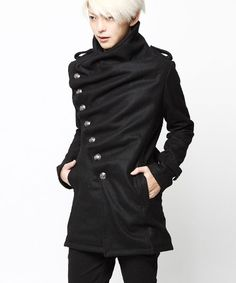 designer: Murder License — Draped Melton Coat