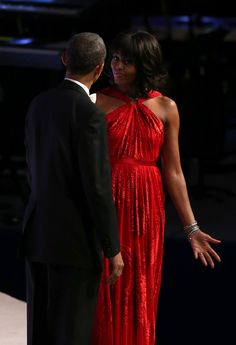 What's good? The president and first lady at one of the inaugural balls