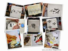 Cut and Tear: Postcard from my Workshop - Printing on Bags and C...