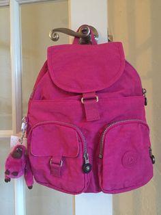 Kipling Firefly Backpack Very Berry Pink #Kipling #Backpack