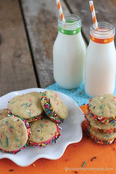 These Funfetti Cookies were practically made for your kitchen. Here's why—your kids will love the colorful sprinkles, this recipe makes the perfect party dessert, and they take only 20 minutes to make!