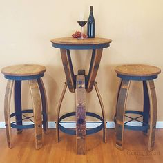 How to Do Rustic Home Decor With Wooden Furniture? - Rustic Home Decor - Bar Table Sets, Patio Bar Set, Wine Barrel Furniture, Rustic Furniture, Furniture Design, Outdoor Furniture, Wine Crate Table, Bar Bistro, Barris