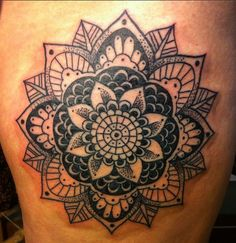 Done by Steve Plum at Adrenaline Toronto. #tattoos #toronto #adrenalinetoronto #mandala #blackandgrey