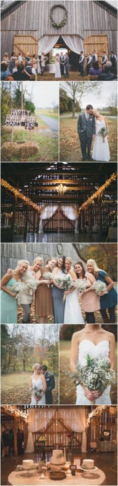 I love every single detail about this wedding    Vintage Style Farm  Barn Wedding - Rustic Wedding Chic