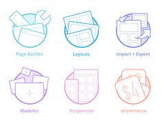 Page Builder Icons by Kenny Sing for Elegant Themes