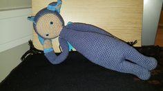 Dirk the dragon made by Marjo V. / crochet pattern by lalylala