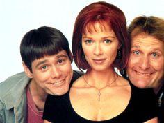 DUMB AND DUMBER, Jim Carrey, Lauren Holly, Jeff Daniels, 1994 | Essential Film Stars, Jim Carrey http://gay-themed-films.com/film-stars-jim-carrey/