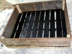 How to Build a Raised Garden Bed From an Old Shipping Pallet : Home Improvement : DIY Network (garden beds)