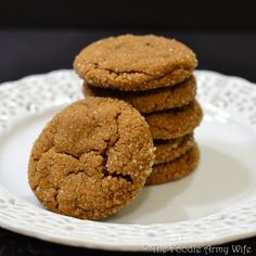 Chewy Ginger Snaps from The Foodie Army Wife