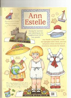 more Ann Estelle paper dolls