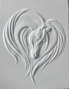 would look great embossed on a card for equine lovers