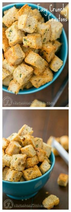 Never buy store-bought croutons again! Click on the picture to find out why and check out this great recipe for homemade croutons. @natashaskitchen