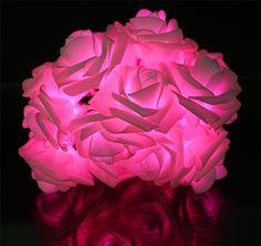 Lights & Lighting Led Lighting Battery Powered Purple Rose Led String Lights,wedding Birthday Decoration Luminaria Christmas Natal Garland Guirlande Lumineuse
