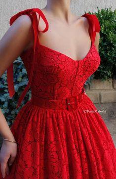 Elegant Dresses, Pretty Dresses, Beautiful Dresses, Red Lace Dresses, Lace Dress Styles, Red Gowns, Casual Dresses, Evening Dresses, Prom Dresses