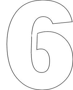 Number Stencils Set 1: Number Stencils: No. 6