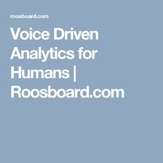 Voice activated analytics to search data and display it charts, graph, etc. Roosboard voice analytics lets anyone to search data with hands-free way and discover insights immediately. Business Intelligence Dashboard, Business Dashboard, The Voice, Insight