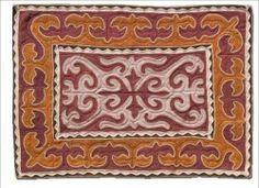Felt rug, terracotta-brown, size: 0.95m x 1.6m http://www.shyrdak-felt-rugs.com/