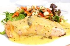 Mustard Caper Sauce Recipe - Serve over Mahi or other white fish. Lots of sauces for fish here. Fish Dishes, Seafood Dishes, Fish And Seafood, Seafood Recipes, Sauce Recipes, Wine Recipes, Cooking Recipes, Healthy Recipes, Salsa