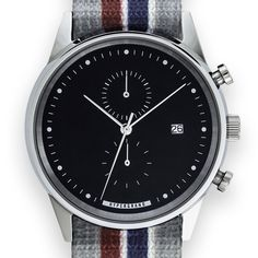 Maverick Chrono (black/podium) watch by HyperGrand. Available at Dezeen Watch Store: www.dezeenwatchstore.com
