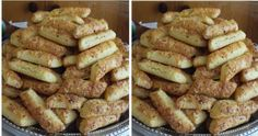 Chutné tyčinky z kyslej smotany: Toto ide u nás na dračku, aj 3 plechy sú málo! Slovak Recipes, Pizza, Fondant Cupcakes, Biscotti, Ham, Sausage, French Toast, Deserts, Snack Recipes
