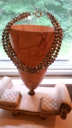Dazzling 8-inch Four-Strand Sparkly Silver Beaded Necklace via Etsy