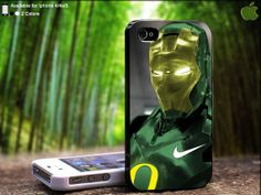 Nike Green Iron Man Design For iPhone 5 / 4 / 4S  by SidePucket, $14.89
