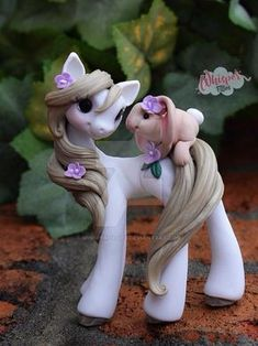 This lovely pair will be available on Sunday (2/4) for adoption!!!! Whisper Fillies Unique handmade polymer clay horse, pony, unicorn and fantasy creatures. Ooak Art doll dolls / Visit my collectio...